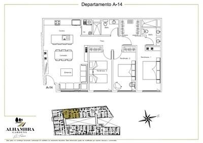 APARTADO A14 - $3,950,000 (3Rec-105m2-Nivel 1-RG)