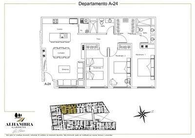 APARTADO A24 - $4,200,000 (3Rec-105m2-Nivel 2-RG)