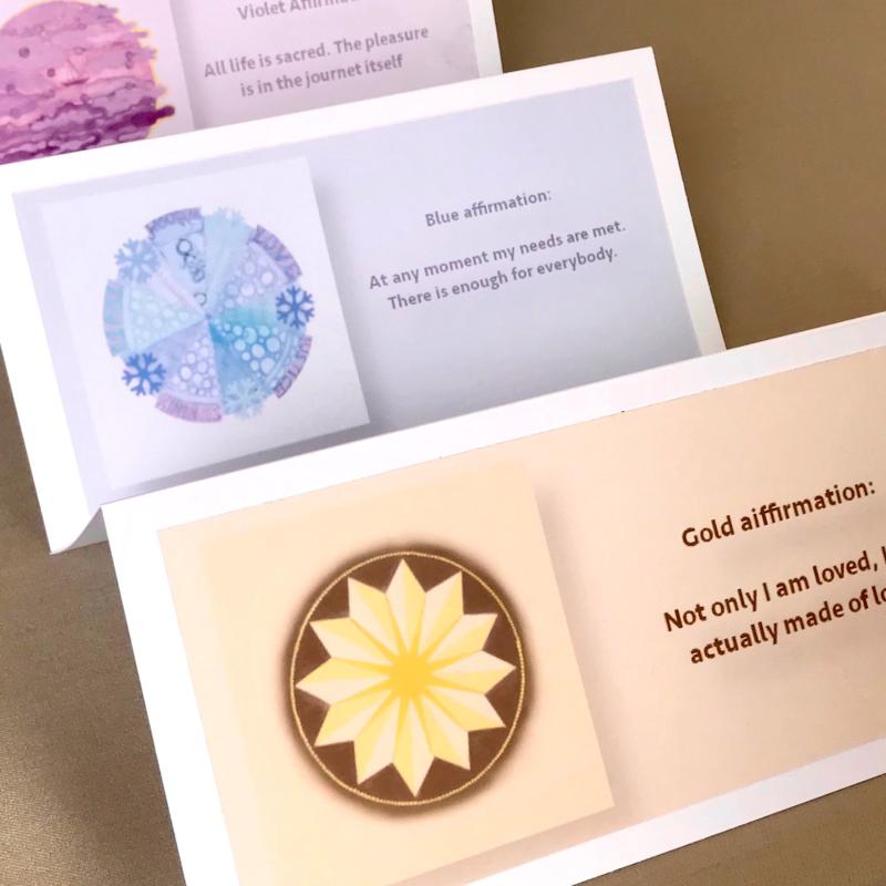 Colour Mandala affirmation cards