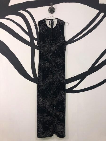 Glitter Printed Maxi Dress - Med/Large
