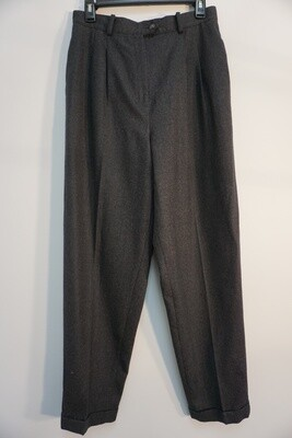 Land's End Pleated Wool Trousers Size 12