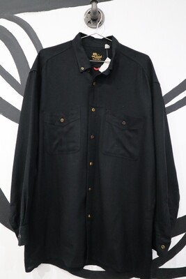 Van Laack Black Lambswool Button-Up - Men's L