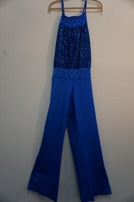 Blue Sequin Jumpsuit Size XXL