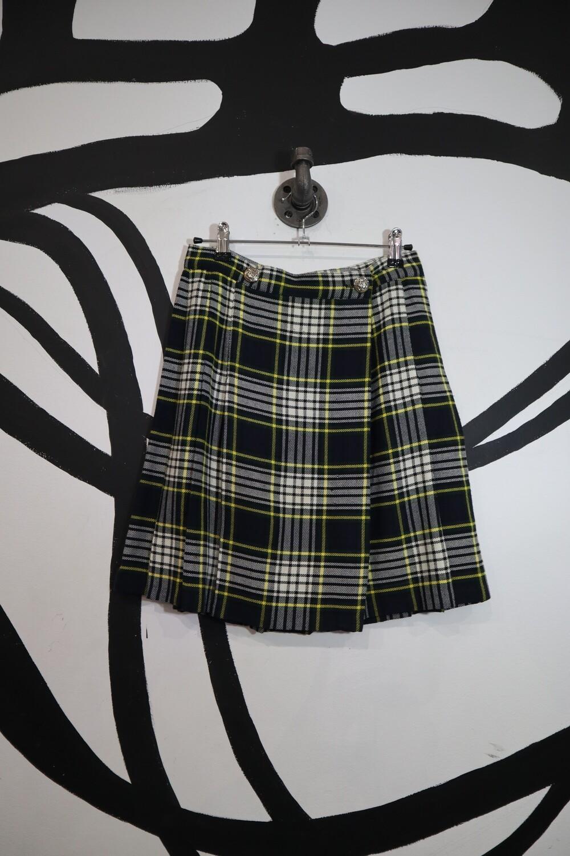Pleated Plaid Skirt - Size 9