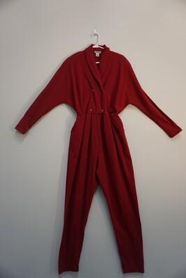 Fads Red Cotton Jumpsuit Size XL