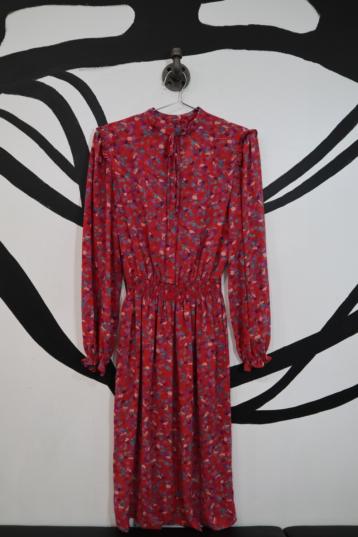 California Girl Floral High-Neck Dress - Size 12