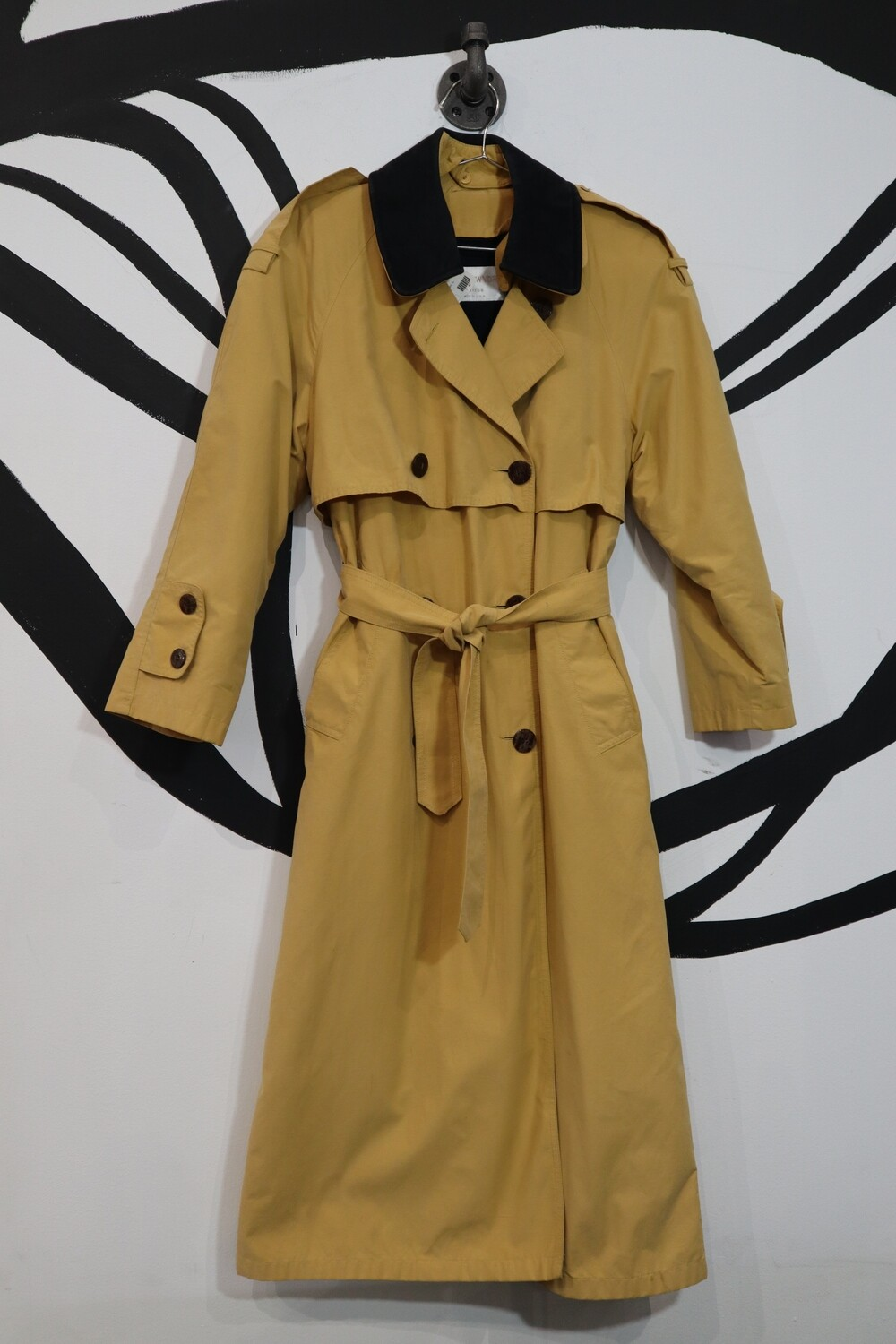 Mustard Trench With Removable Wool Lining - Women's M/L Petite