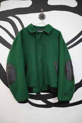 John Deere Forest Green Bomber Jacket - Men's L