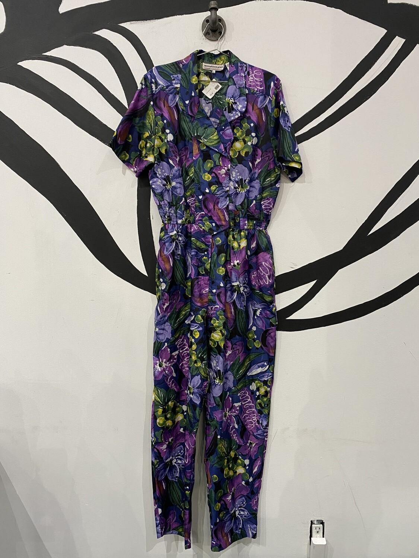Multicolored Floral Jumpsuit - Women's size 12