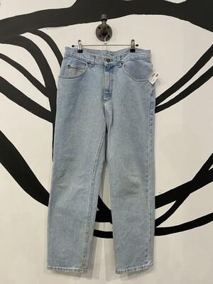 Classic Lee Light Wash Straight Leg Jeans - Size 33 x 30