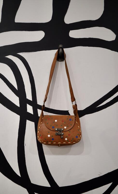 Vintage Embossed Leather Crossbody