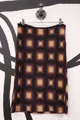 Stretch Glitter Patterned Skirt - Women's Size Small
