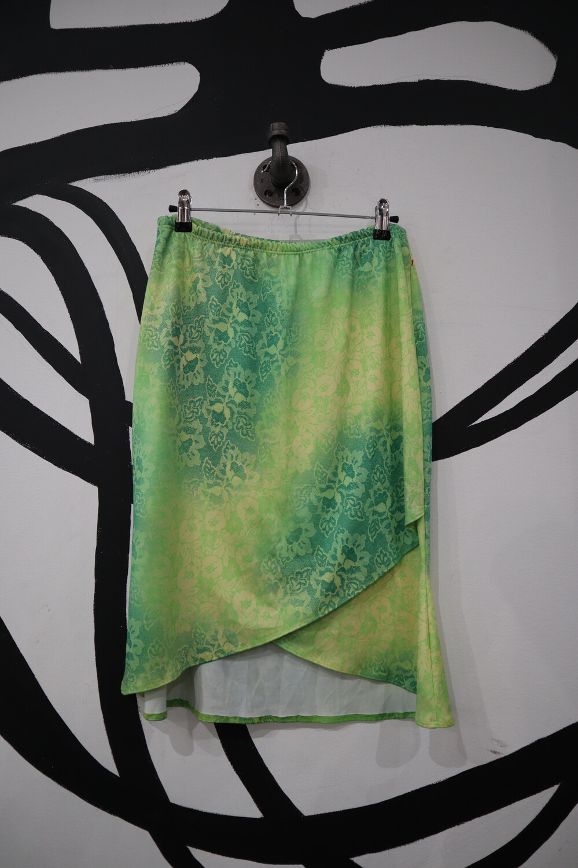 Studio MK Floral Tie Dye Skirt with Wrap Detail - Size M