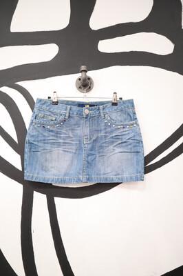 DcDoSi Denim Rhinestone Miniskirt - Women's M