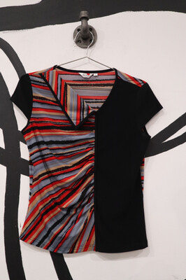 Ruched Front Colorblock Tip - Size M