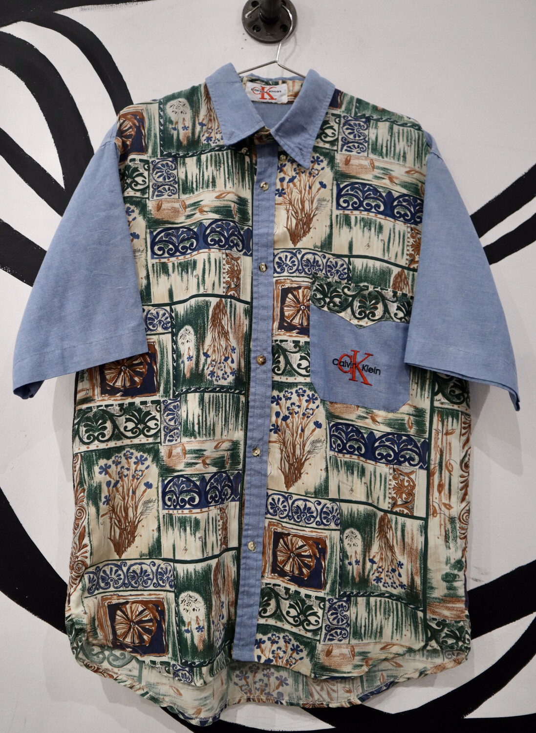 Calvin Klein Hawaiian Shirt - Men's Size Large