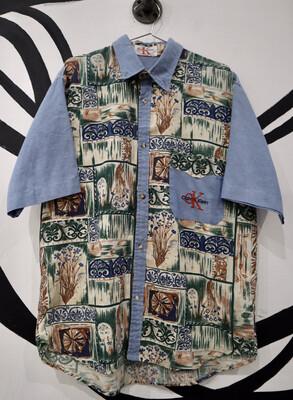 Calvin Klein Hawaiian Shirt - Men's Size Large