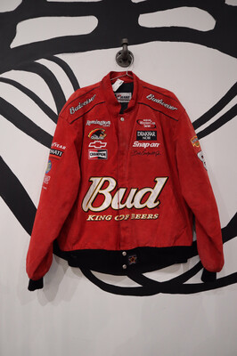 Suede NASCAR Jacket - Men's Size XL