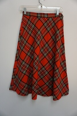 Red Plaid Skirt Size 9/10