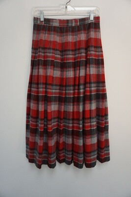 Pendleton Red Plaid Skirt Size 10