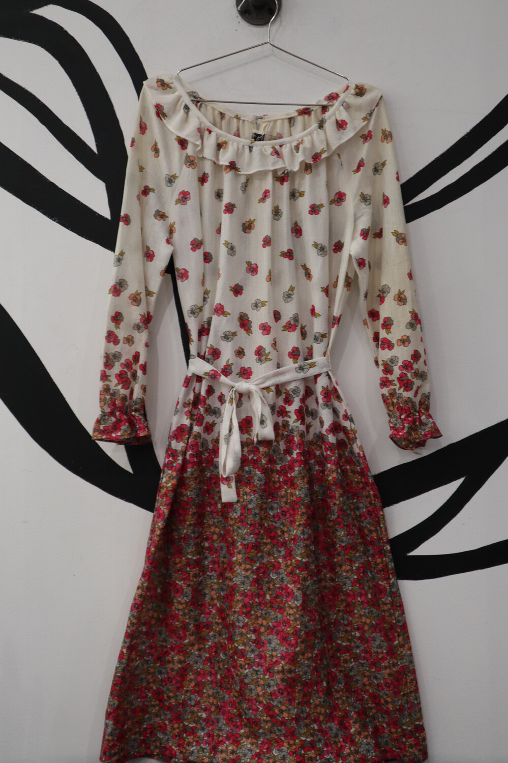 Sheer Floral Jerrie Lurie Dress- Large
