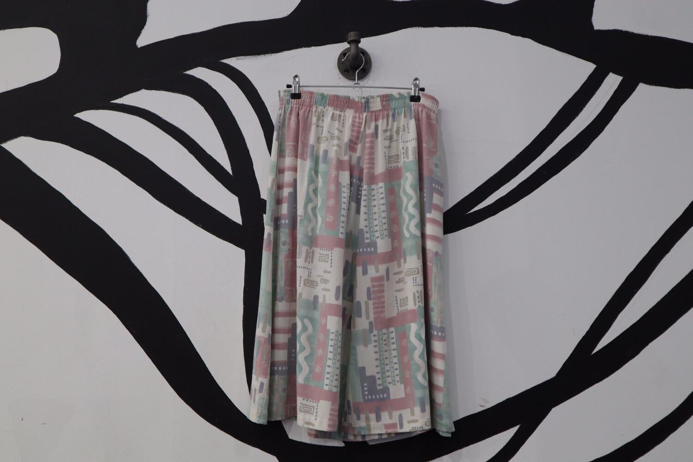 Printed Mid-Length Skirt - Women's Size 12P