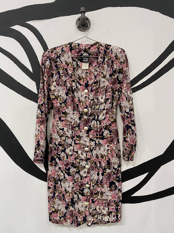 Lightweight Long Sleeve Floral Dress - Size 3