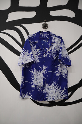 Blue Hawaiian Shirt Size L
