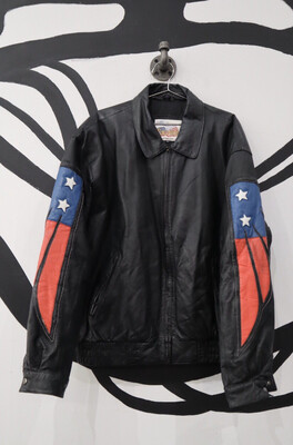 Leather Eagle Bomber - Men's Size XL