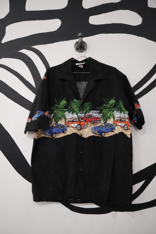 Car Hawaiian Shirt - Men's Large