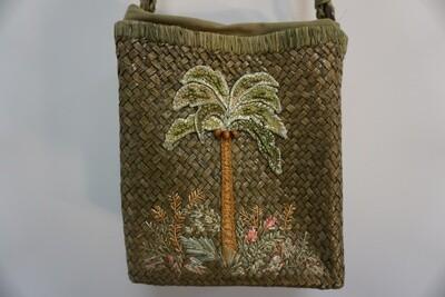 Palm Tree woven purse