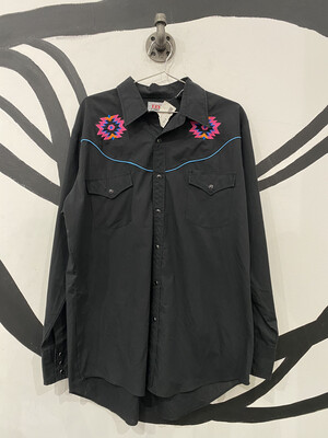Ely Diamond Shirt with Embroidery - Men's L