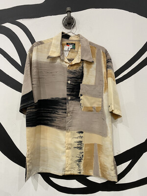 D'Accord Patterned Button Up - Men's M