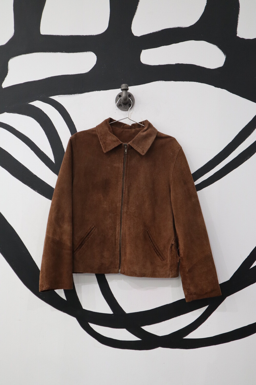 Brown Suede Collar Jacket Size S