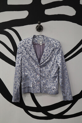 Floral Powder Blue Blazer