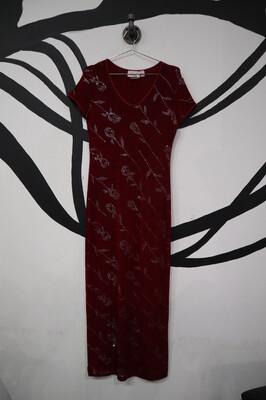 Glitter Rose Maxi Dress