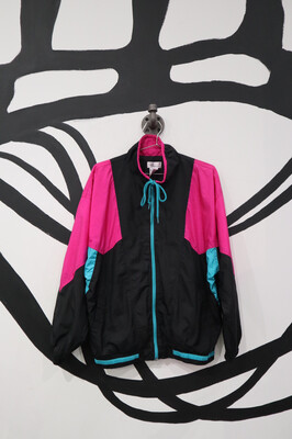 Symmetrical Colorblock Windbreaker