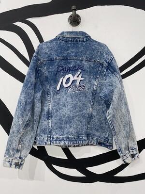 Embroidered Acid Wash Jacket Large