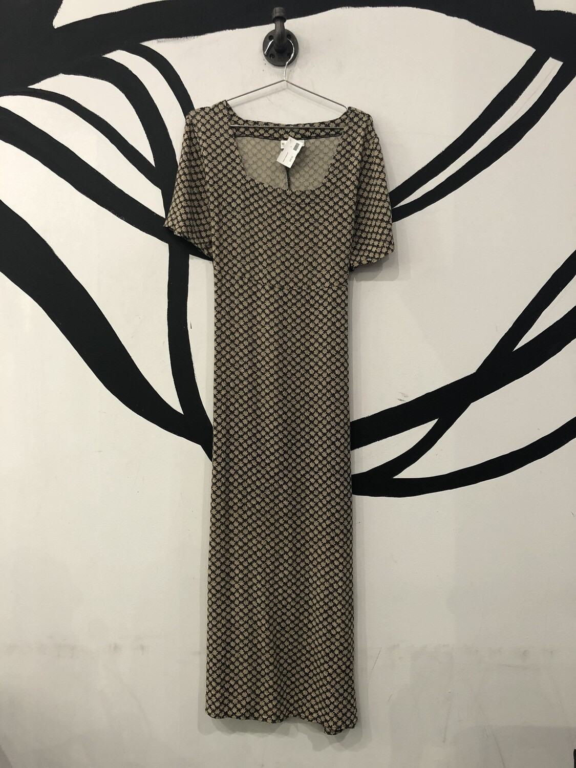 Square Neck Daisy Print Maxi Dress Size M/8