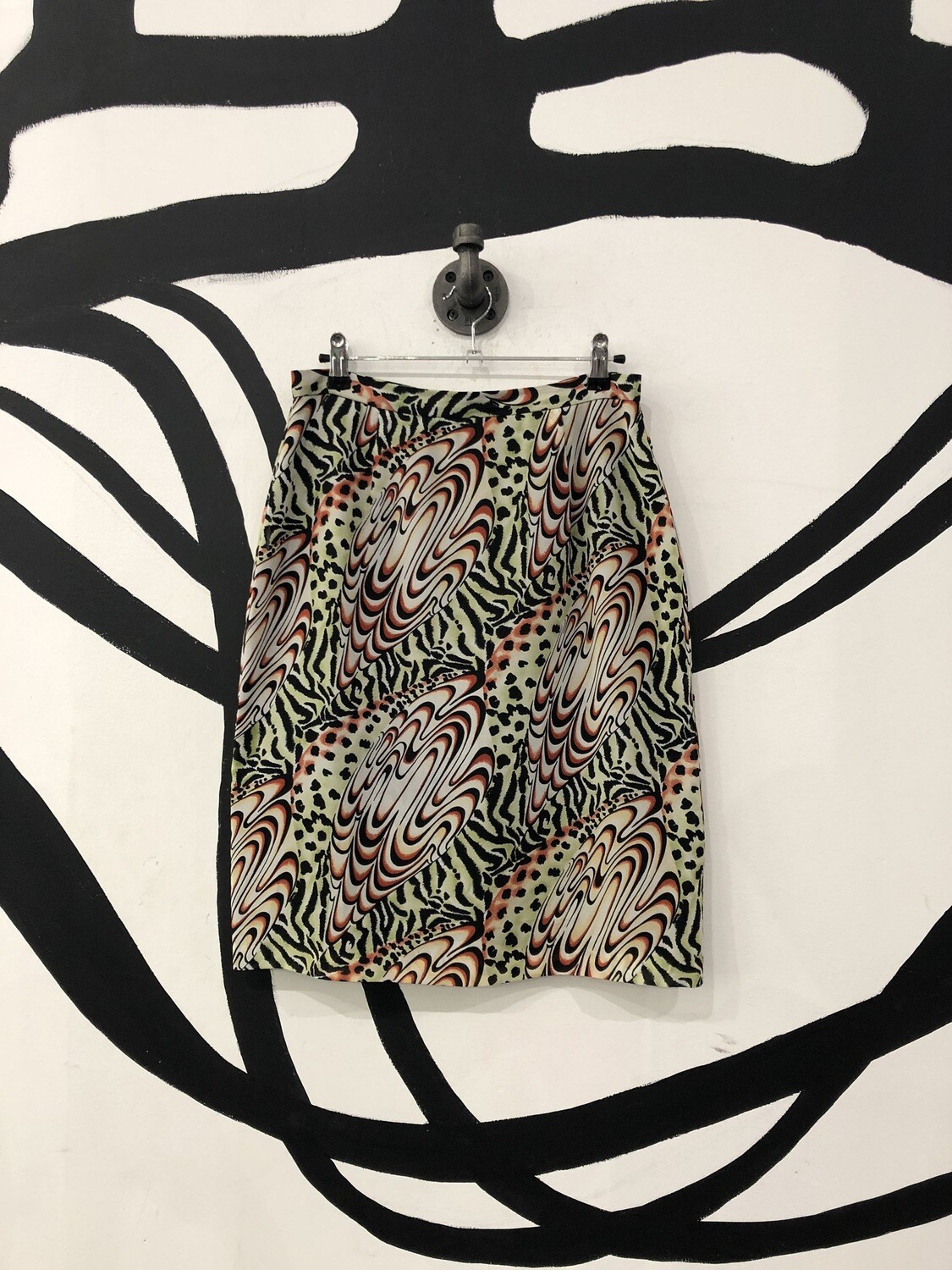 Psychedelic Animal Print Skirt Size M