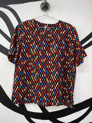 Technicolor Print Top Size M