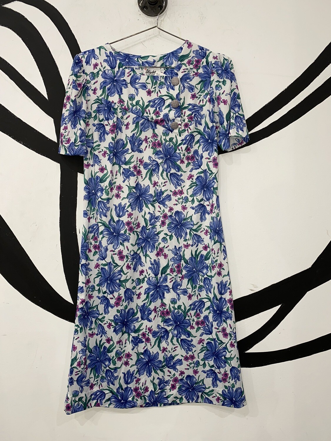 Women's Floral Print Dress W/ Button Detail-Size 5-6