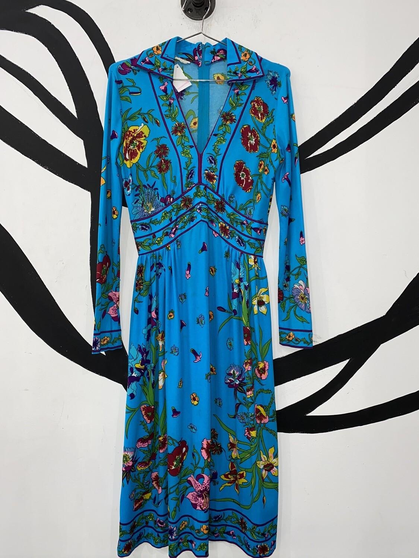 Women's Long Sleeve Floral Dress-Medium