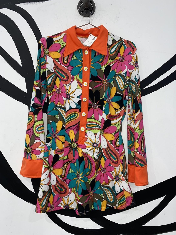 Women's Retro Print Dress Size S