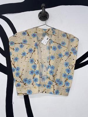 Women's Floral Print Crop Top/Vest-Small