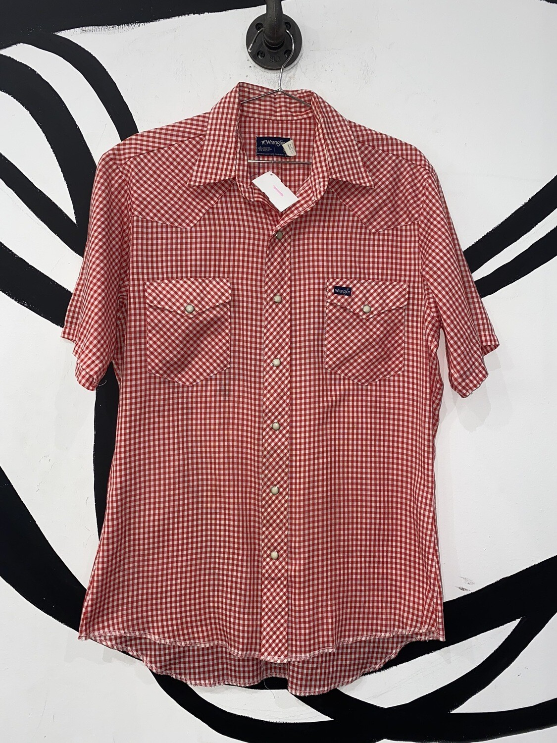 Women's Wrangler Button Up Blouse Size M