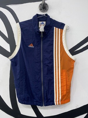 Men's Nylon Adidas Track Vest-Size Medium
