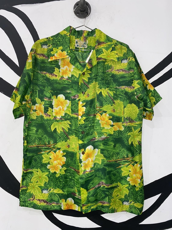 Men's Short Sleeve Hawaiian Shirt-Size Medium