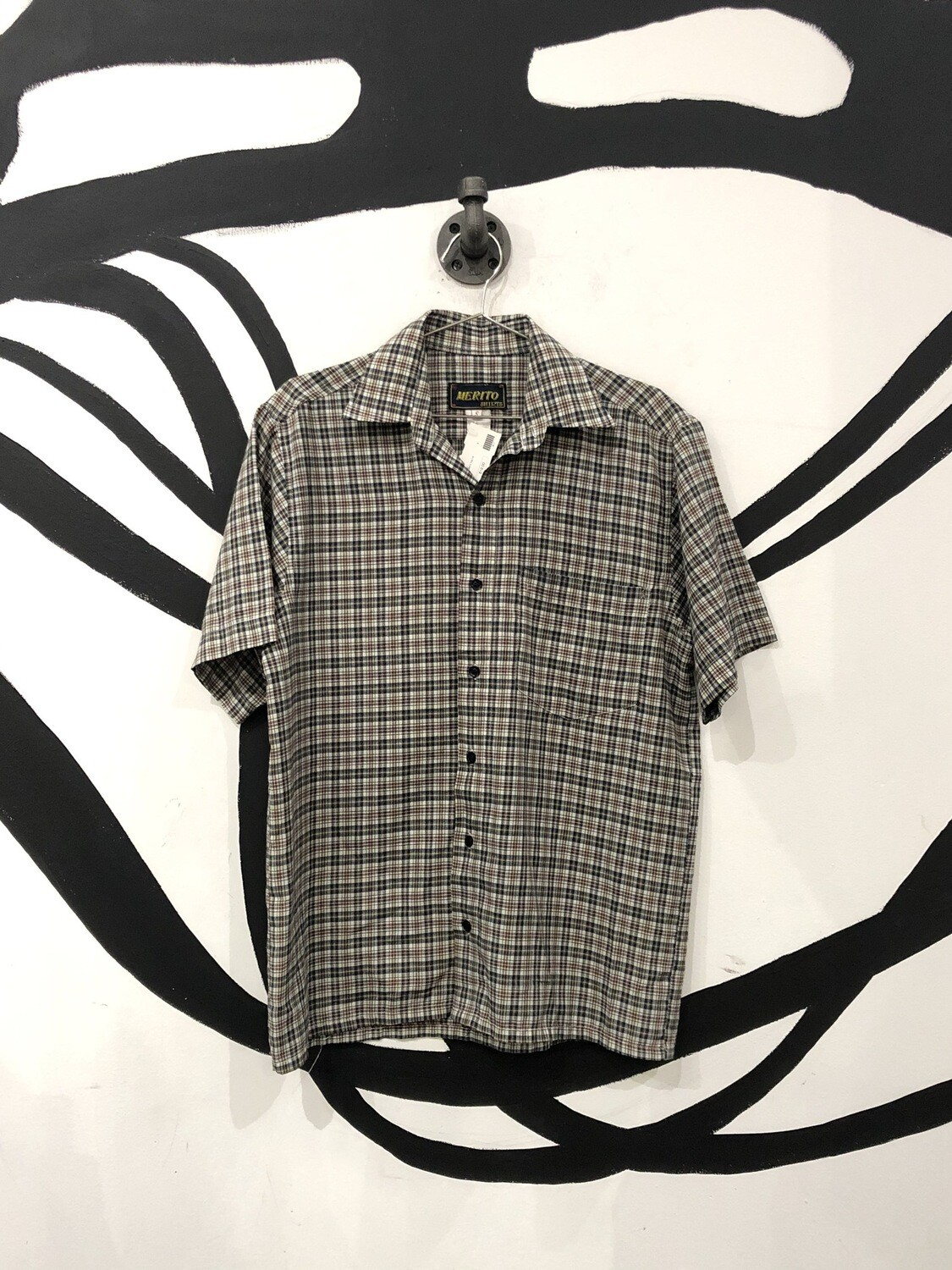 Merito Plaid Short Sleeve Button Up Size S