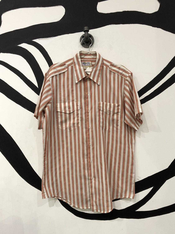 70's Riverside Striped Short Sleeve Button Up Size L